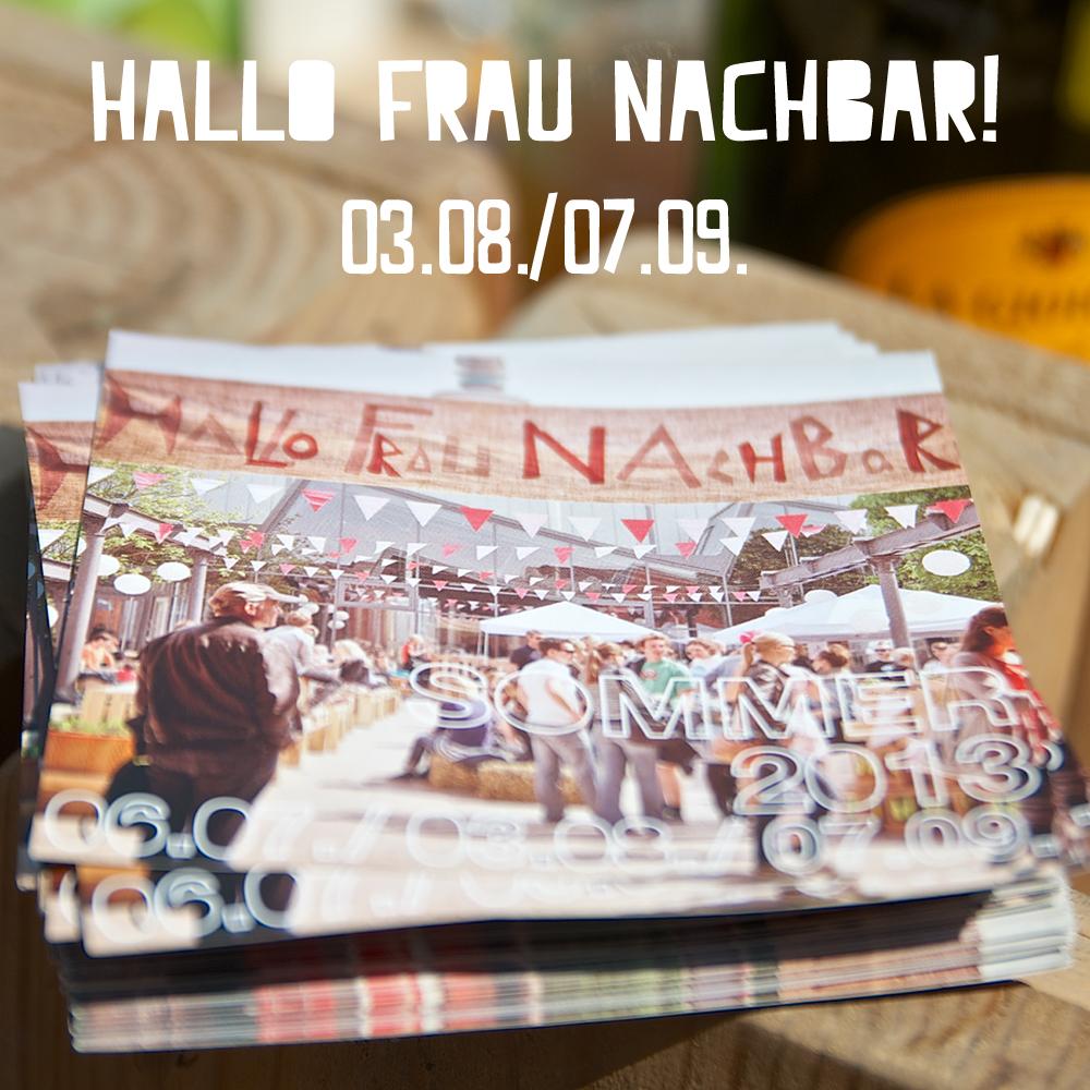 Hallo Frau Nachbar, Flyer