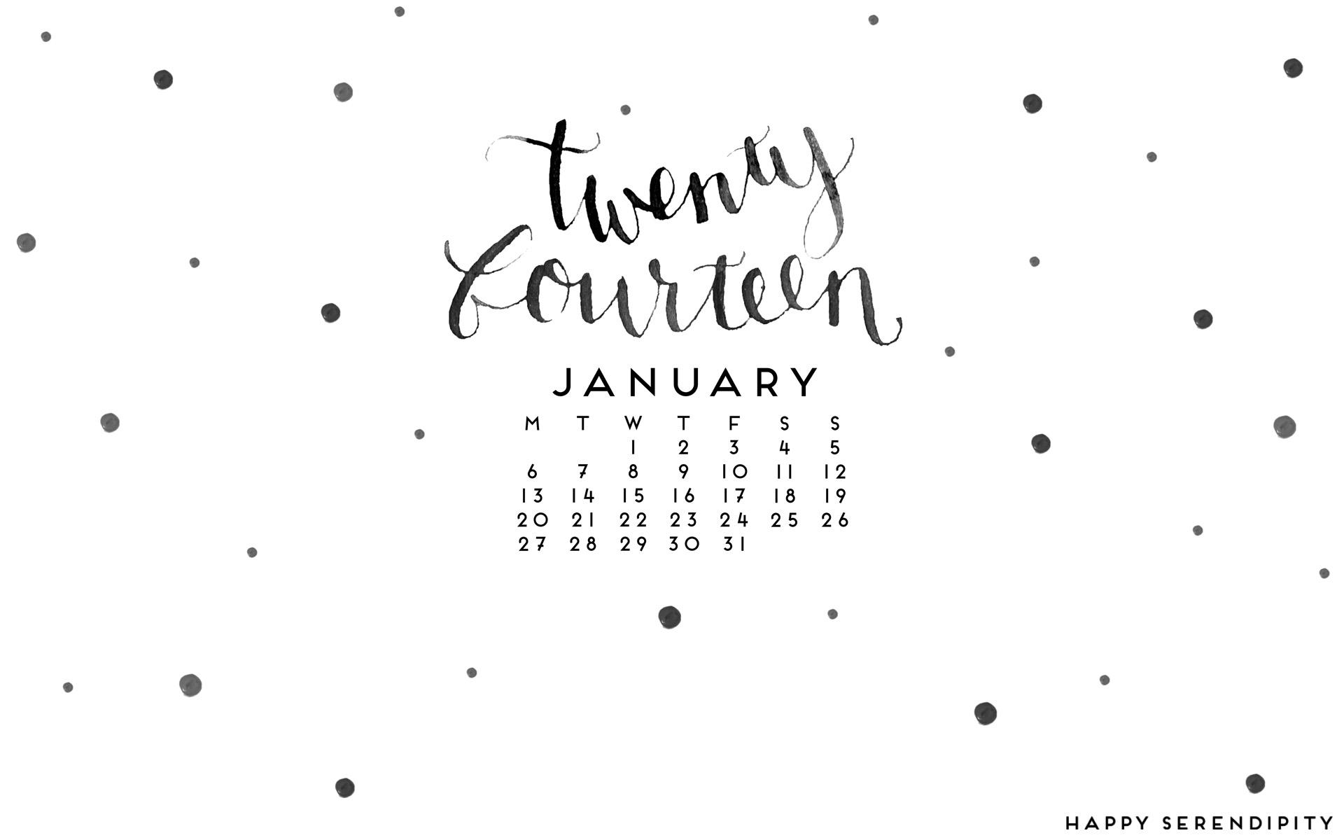 Desktop Wallpaper Januar 2014 by happyserindipity