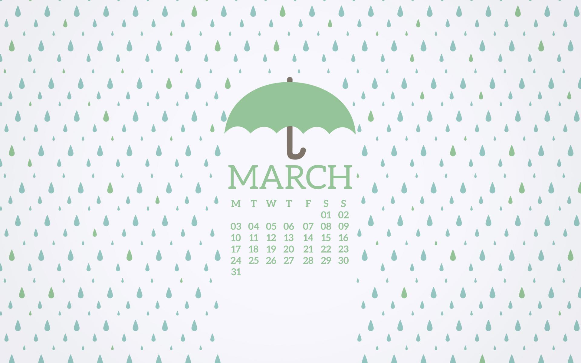 Desktop Calendar March 2017