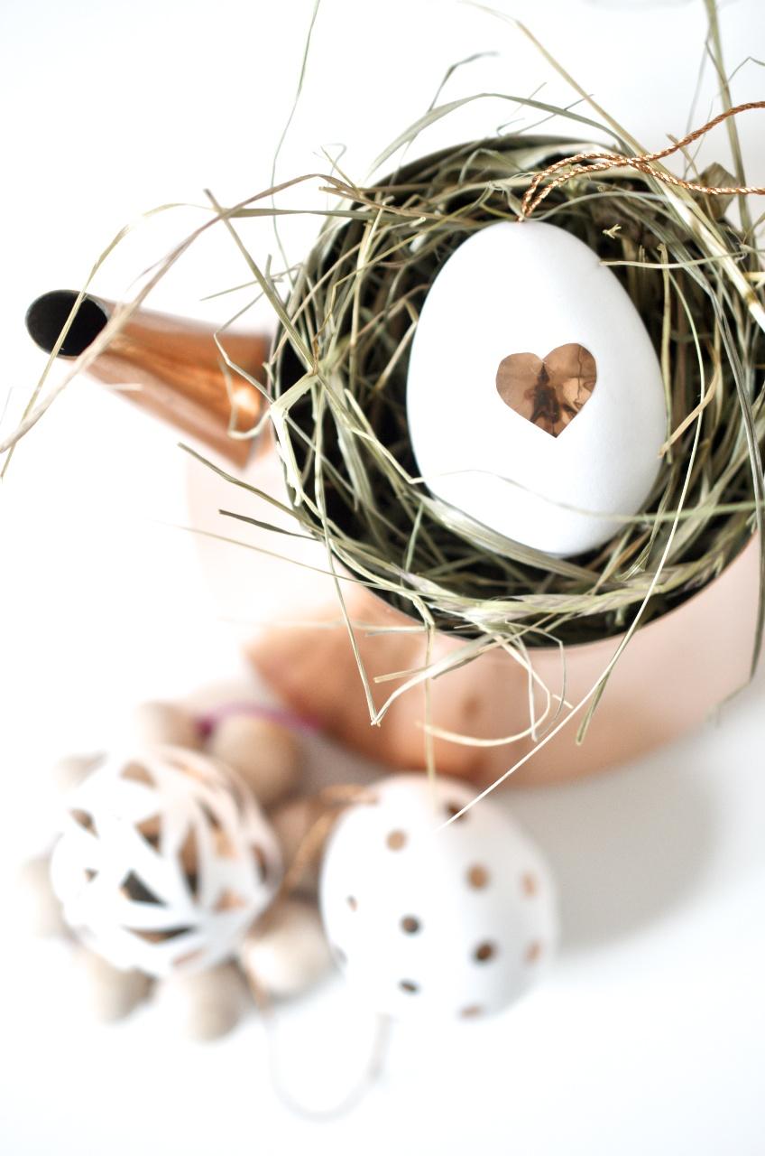 Oster DIY mit Kupferkonfetti