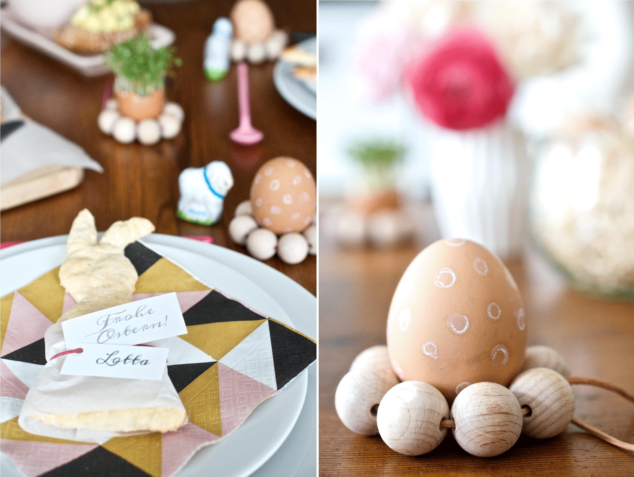Ostertisch-Eierbecher