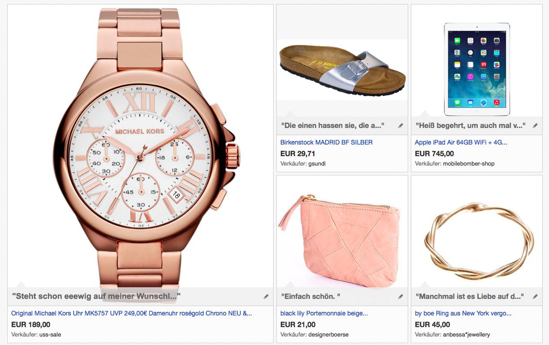 Wunschliste zum Geburtstag #ebaykollektionen