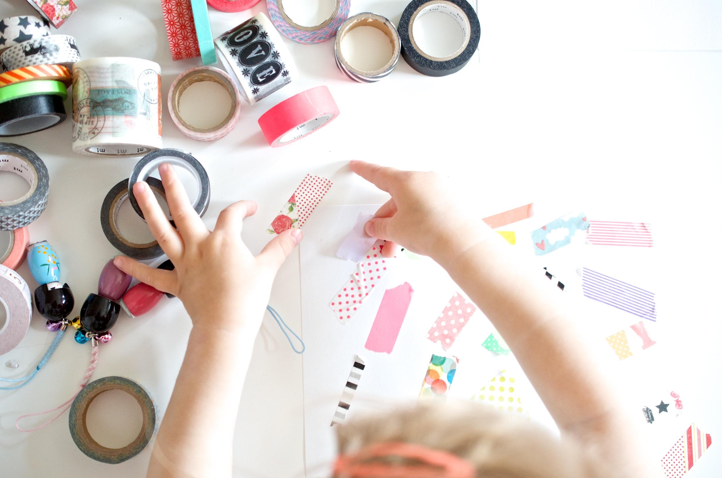 Masking Tape Basteln mit Kindern