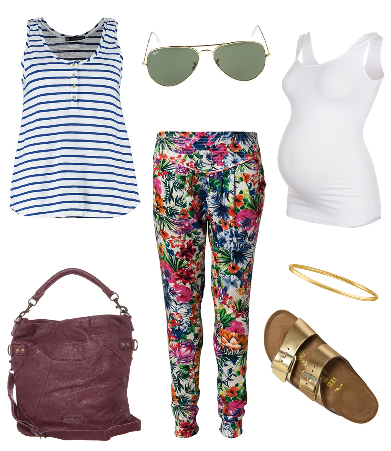 Maternity Style Trend Blumen Mustermix