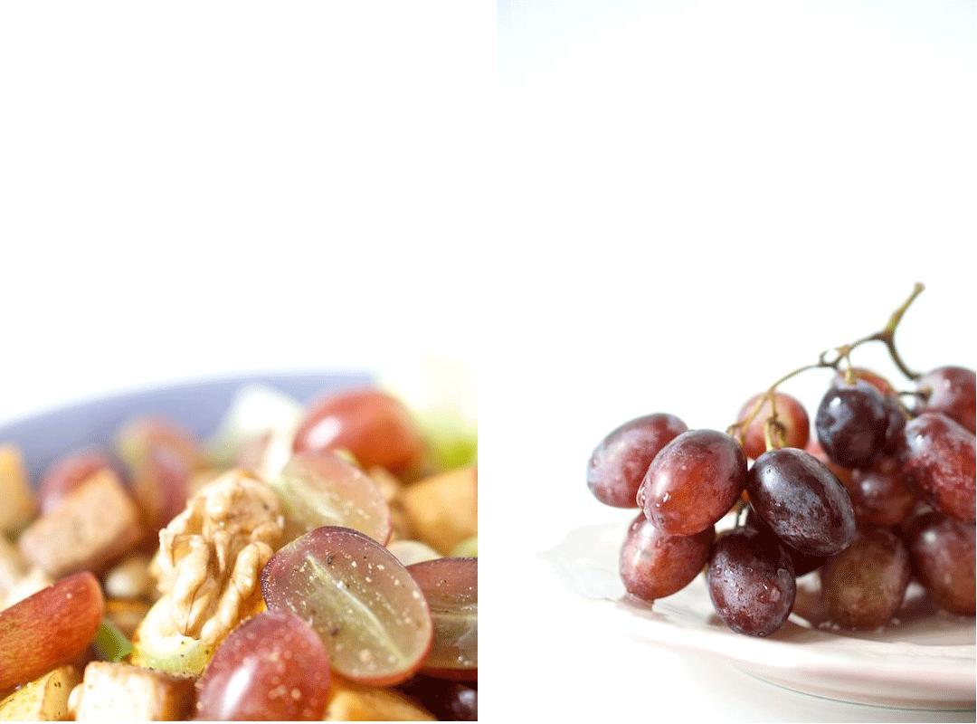 Vegetarischer-Salat-mit-Tofu-und-Weintrauben