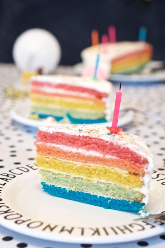 Regenbogentorte Geburtstagskuchen (1)