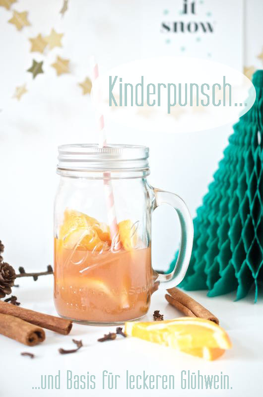 Kinderpunsch, Glühwein, Weihnachten, Mason Ball Jar, Paper Straw_Lieblingsglas (1) Kopie