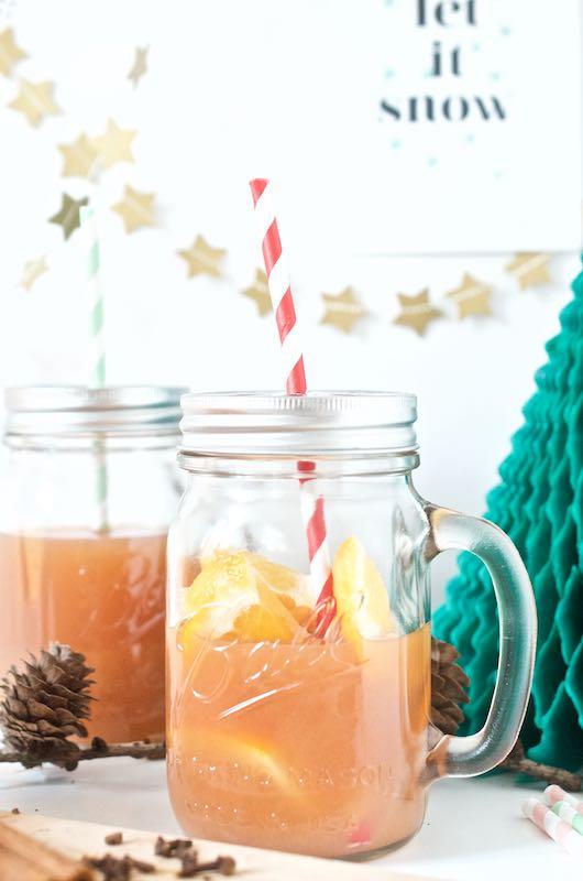 Kinderpunsch, Glühwein, Weihnachten, Maison Ball Jar, Paper Straw_Lieblingsglas