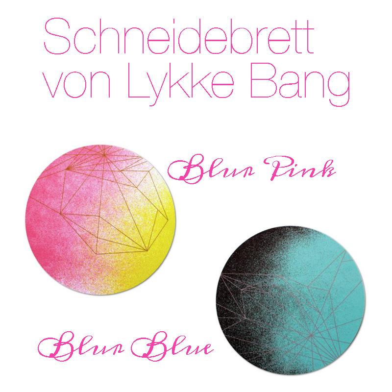 Schneidebrett Lykke Bang Blur Pink Blur Blue