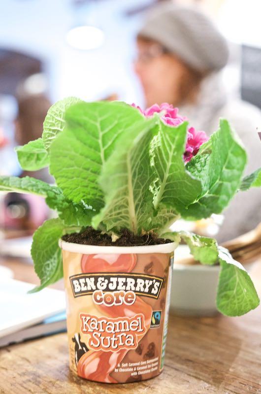Ben & Jerry's Ice Cream Tasting - DIY recycling Vase | Pinkepank