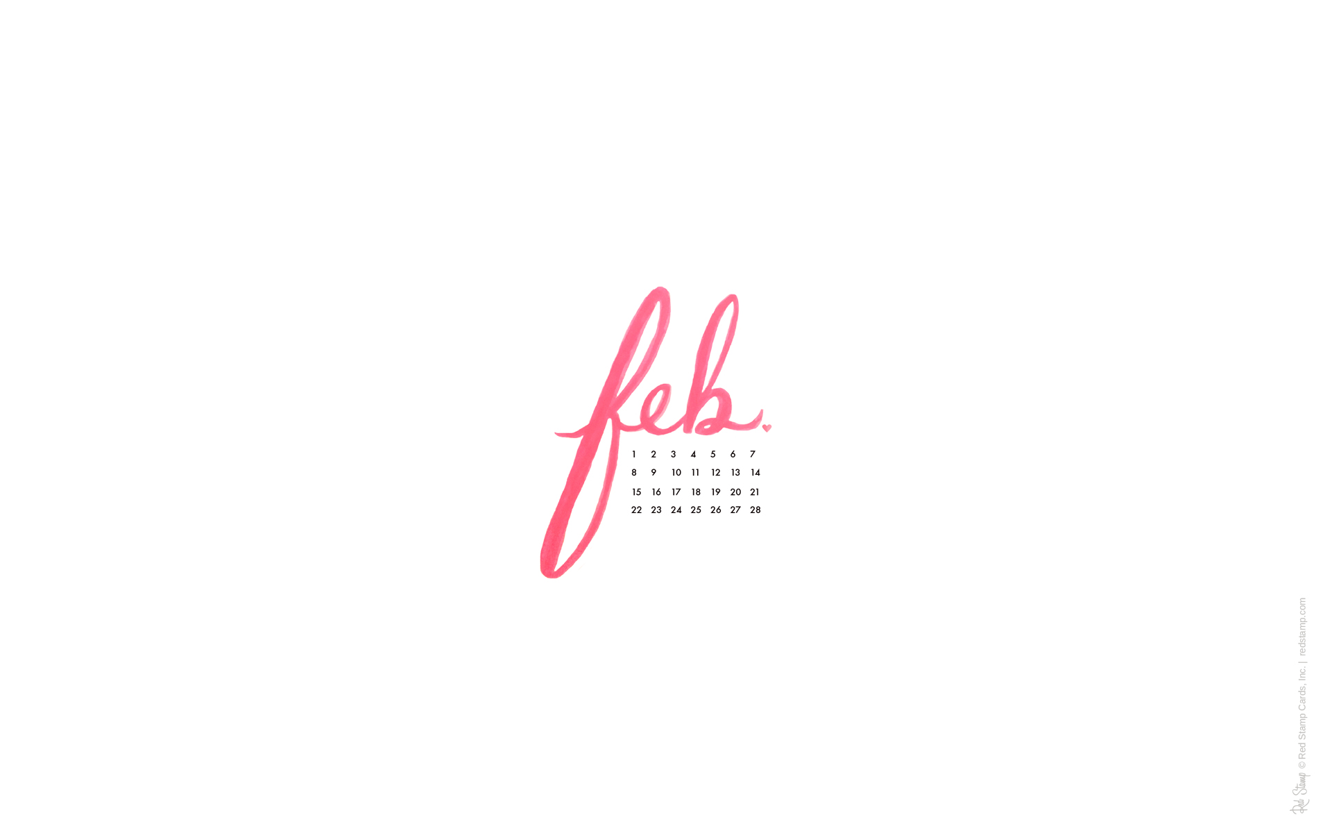 Desktop Calendar February 2015