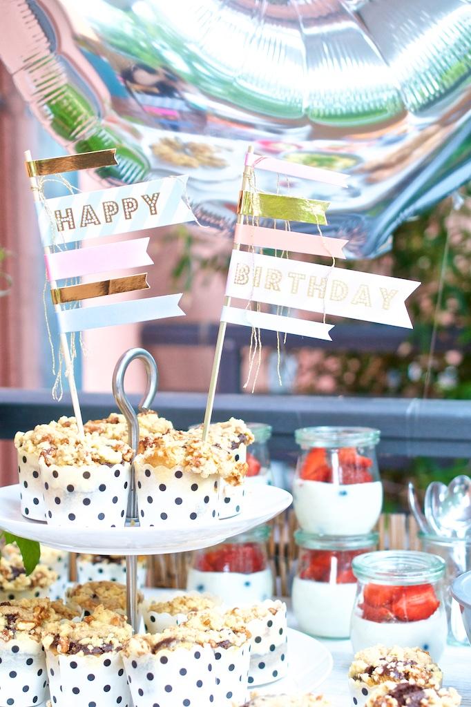 Der 30. Geburtstag - Die Party - Muffins und Caketopper | Pinkepank