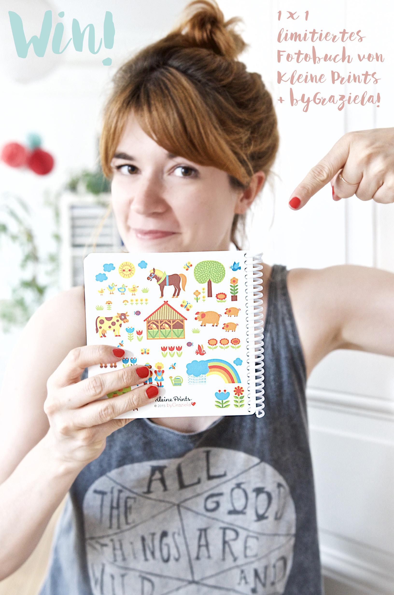 Giveaway Kleine Prints + byGraziela limitiertes Fotobuch für Kinder