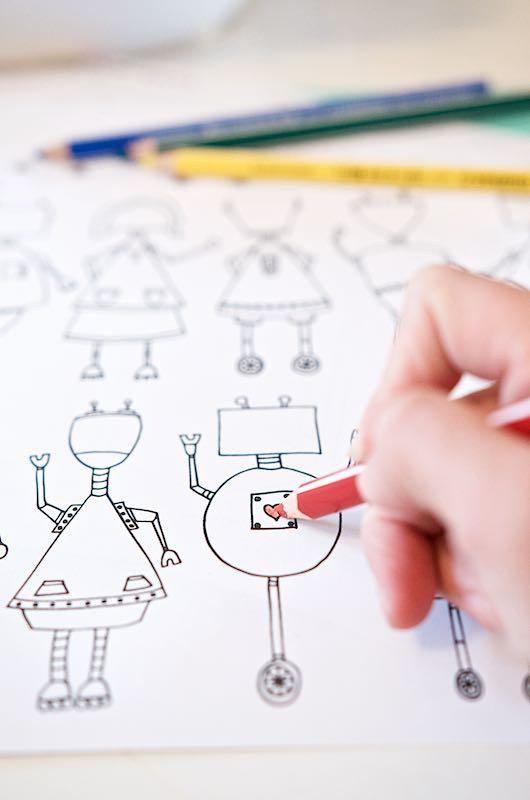 DIY Ideen für Kinder - Roboter zum Ausmalen   Pinkepank (1)