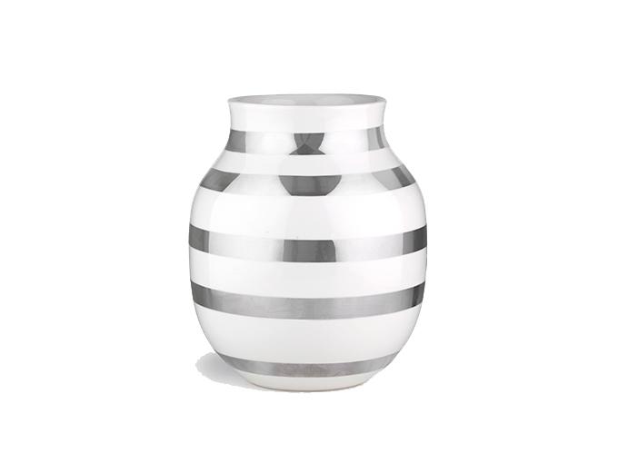 Ommagio Vase von Kähler silber   Pinkepank