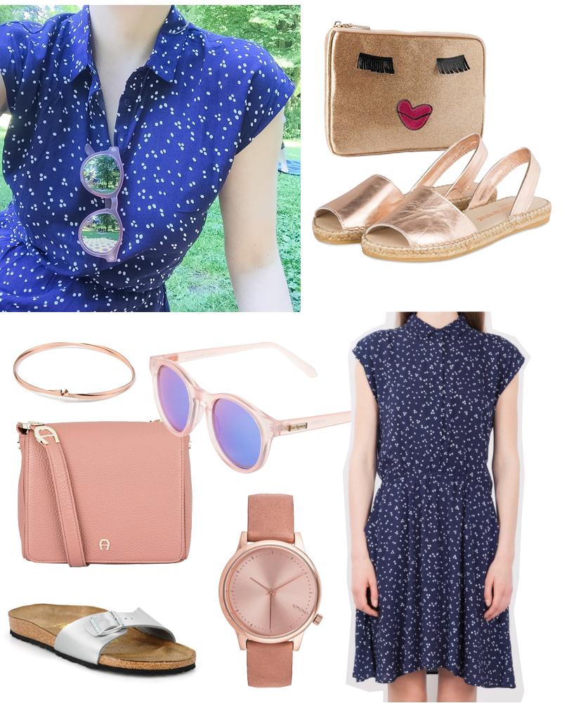 Style Kleid Eleni Minimum Pünktchenkleid