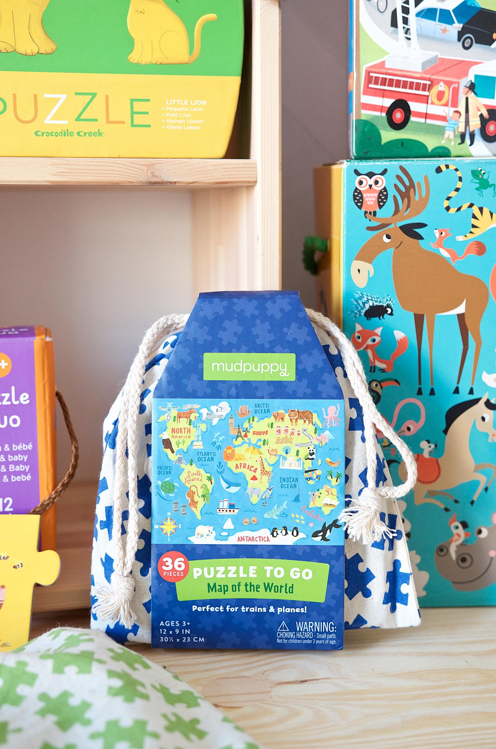 Die schönsten Puzzle für Kleinkinder Weltkarte Mudpuppy Reisen mit Kind
