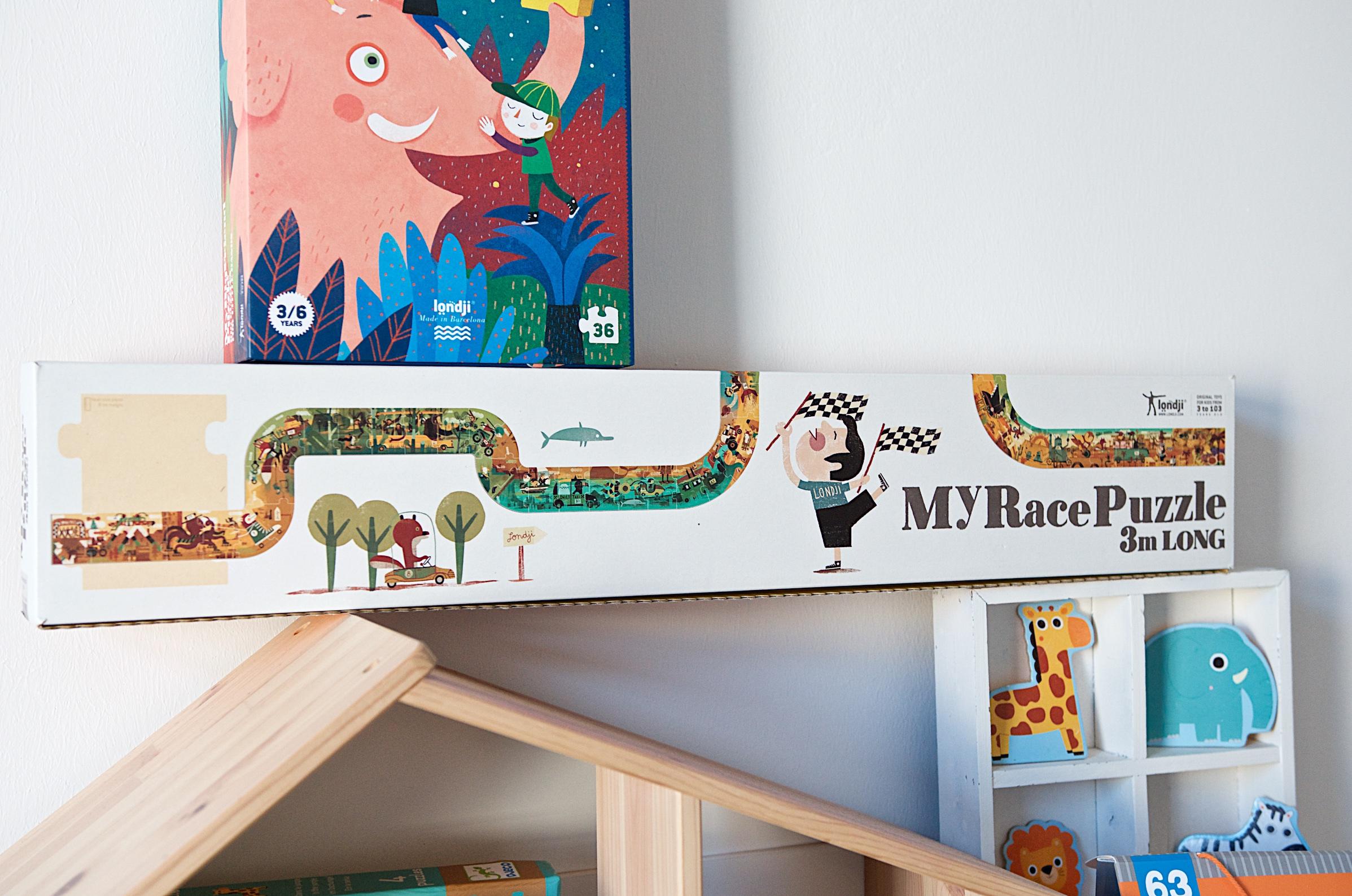 Die schönsten Puzzle für Kleinkinder londji My race Puzzle