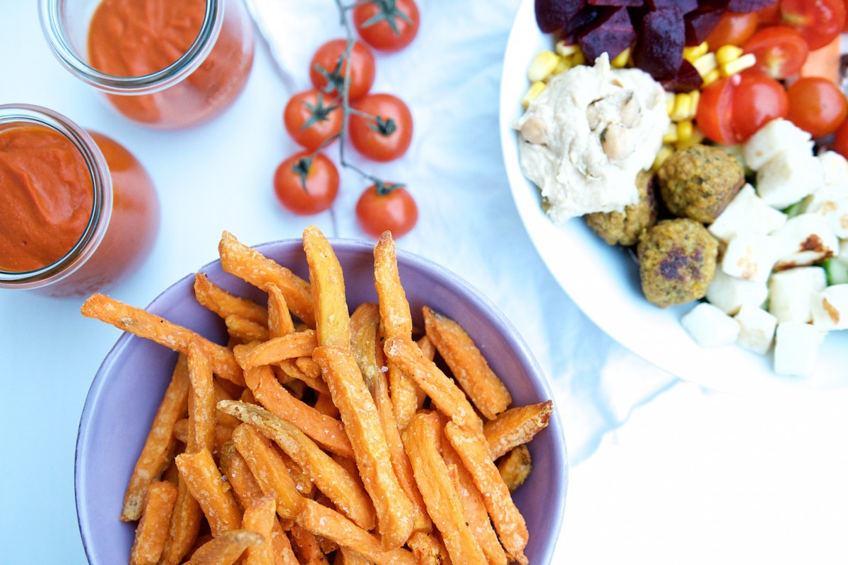 Knusprige Süßkartoffelpommes aus dem Backofen von Edeka | Pinkepank (1)