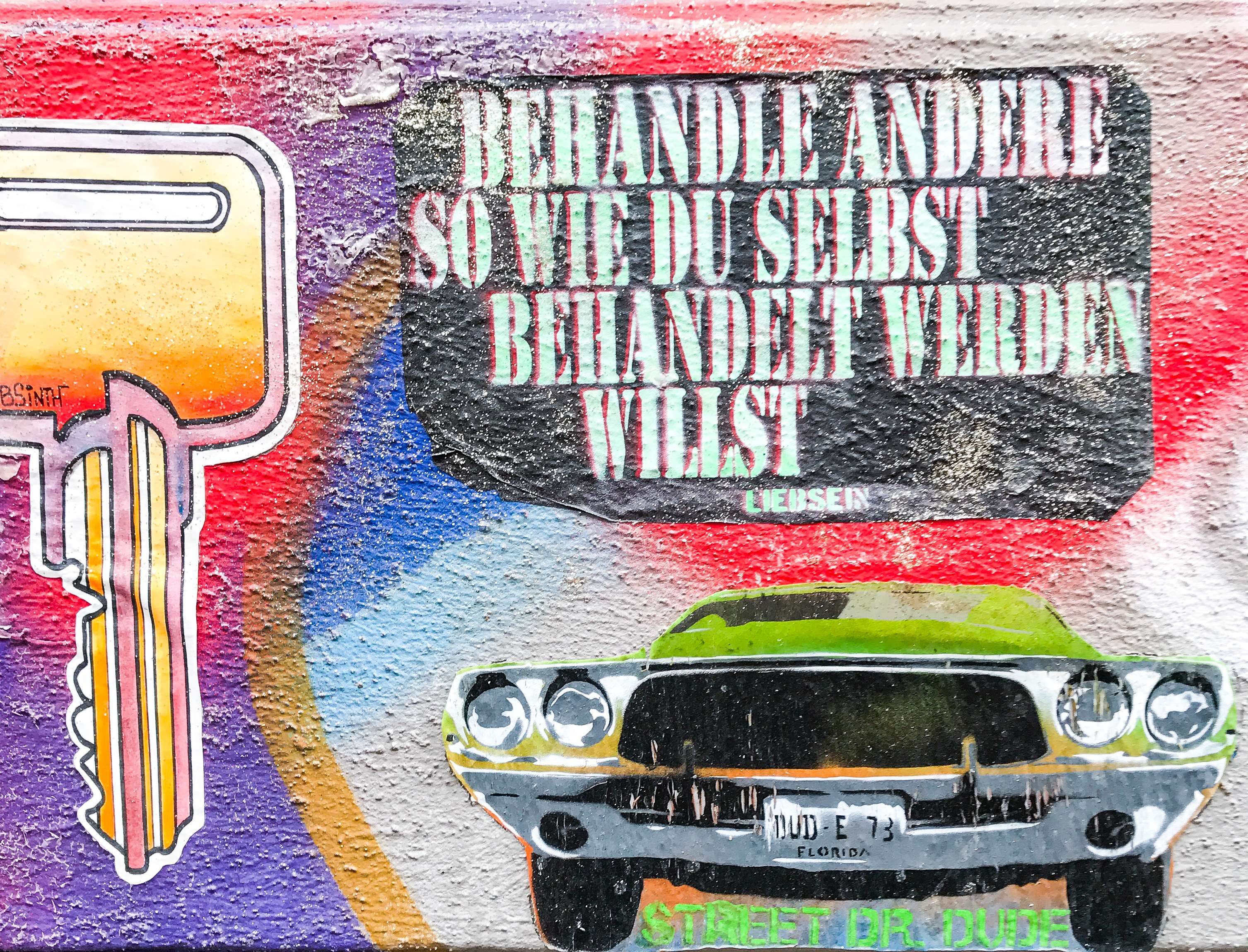 Wertschätzung als Schlüssel zum Glück - Street Art Hamburg Schanze