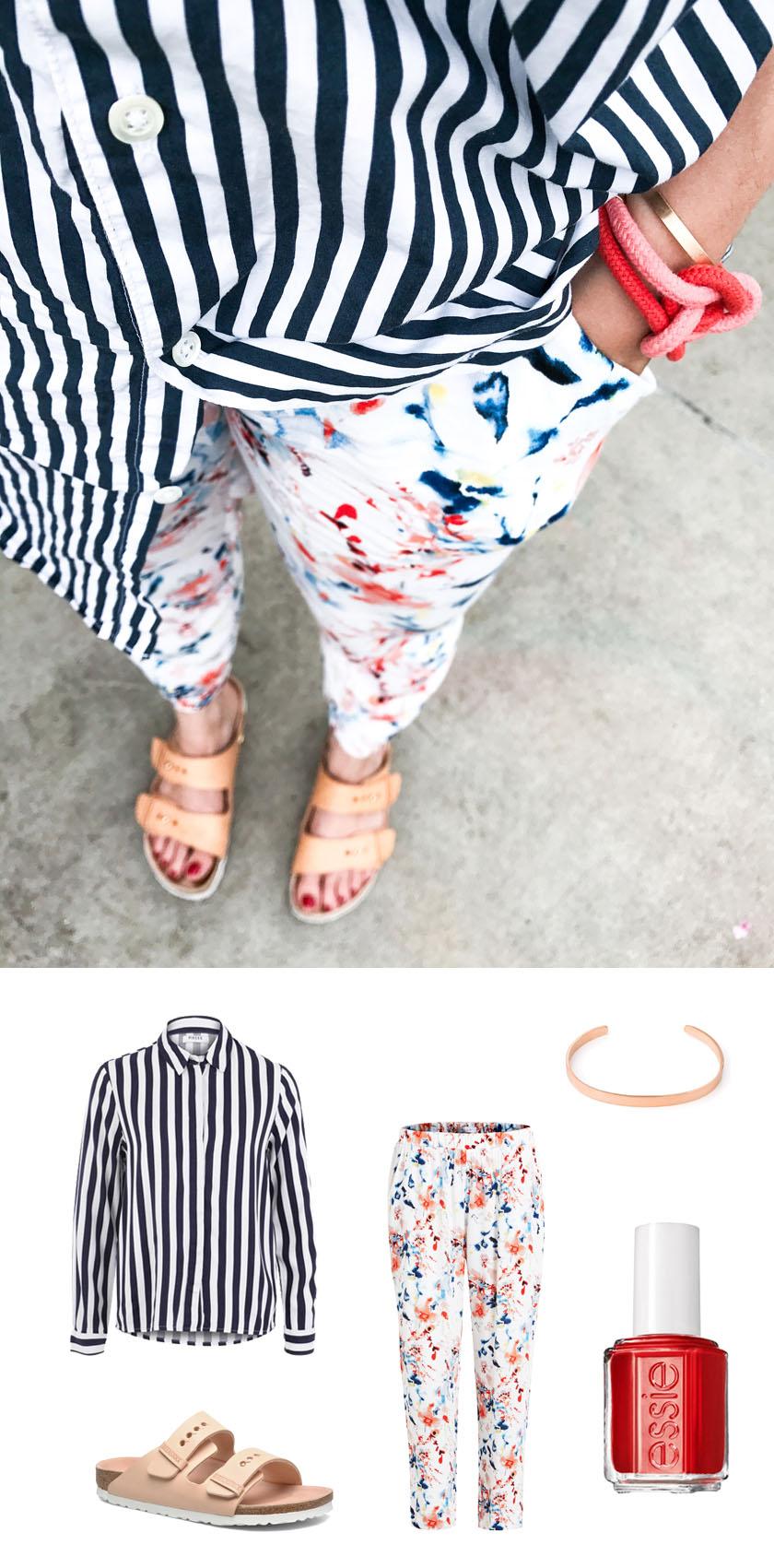 Mustermix Sommer Outfit Mads Streifen und Blumen