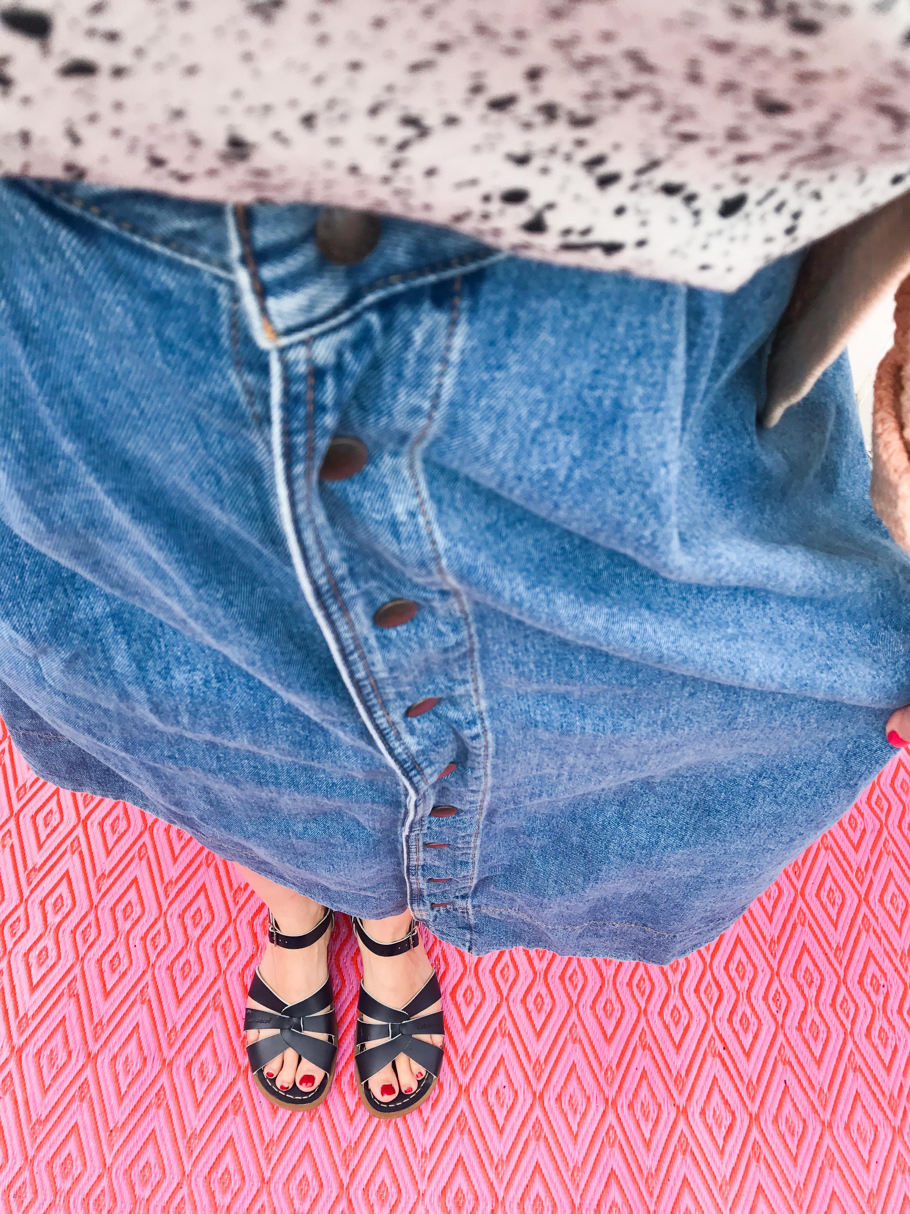 Outdoor Teppich in Pink gemustert - perfekter Untergrund für's Outfit Foto