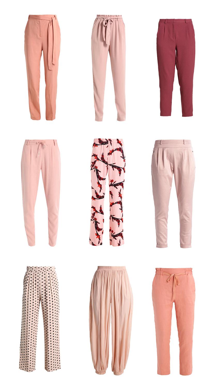 Rosa Stoffhosen Style Inspiration