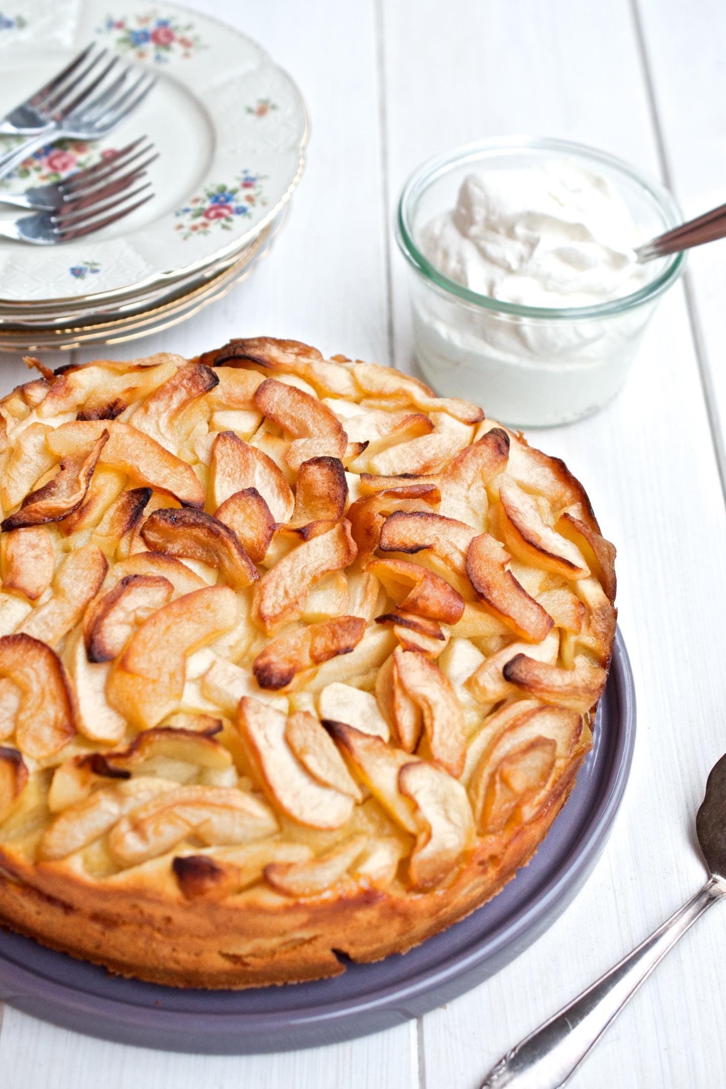Rezept Fur Apfelkuchen Mit Creme Fraiche Und Calvados