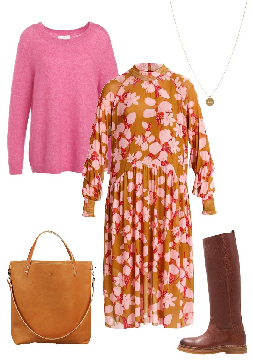 Style Blumenkleid im Herbst