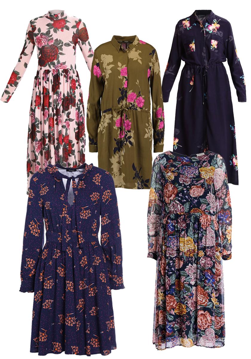 Blumenkleider für den Herbst