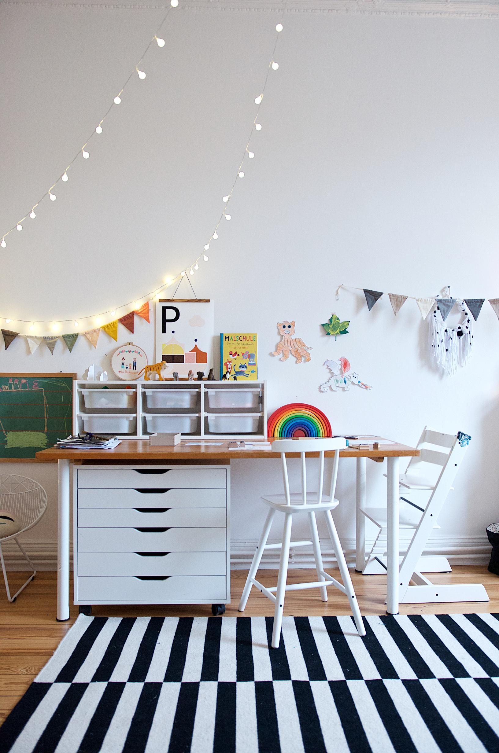 Kreativ-Ecke im Kinderzimmer