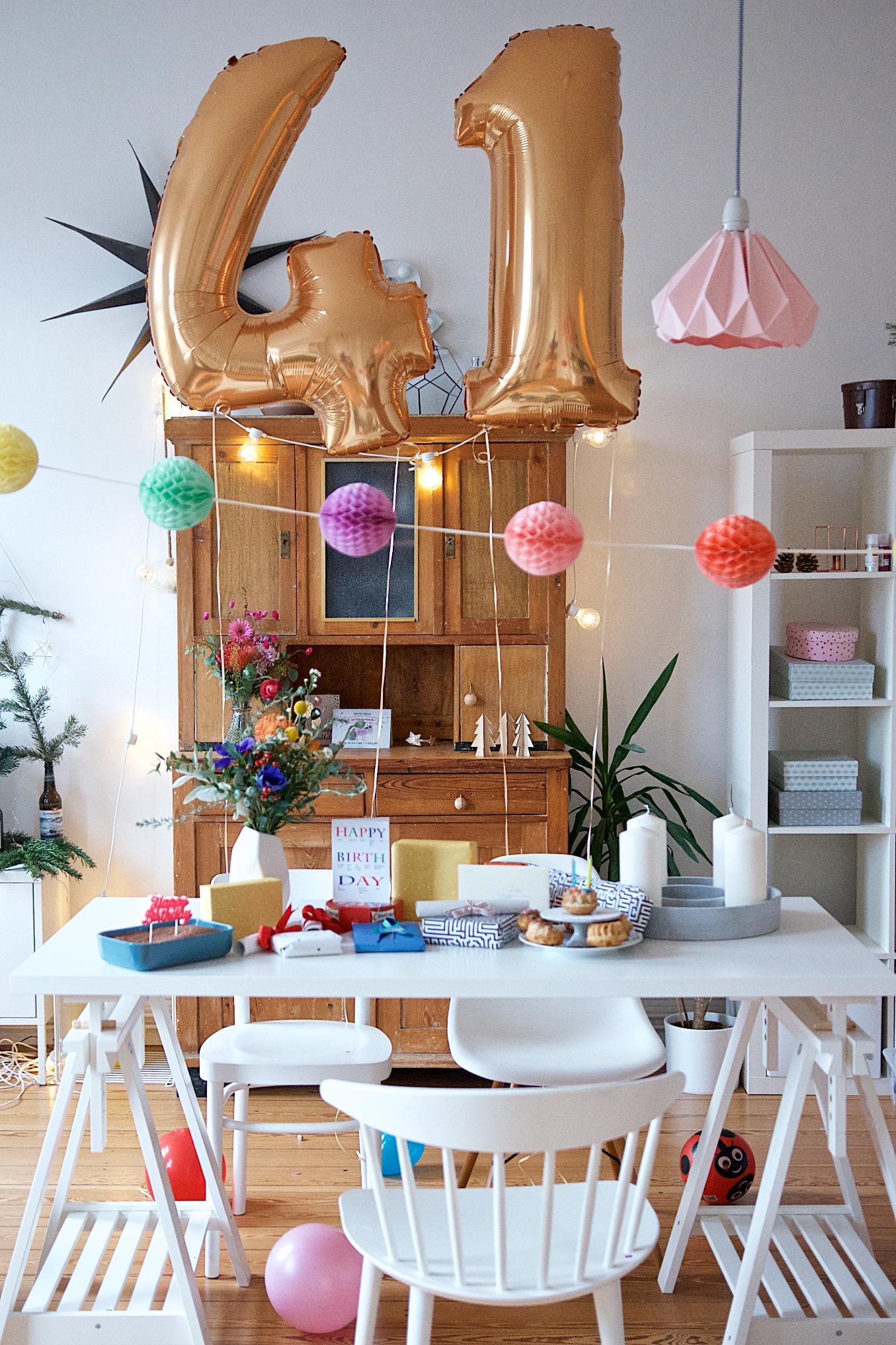 Geburtstagstisch zum 41. Geburtstag