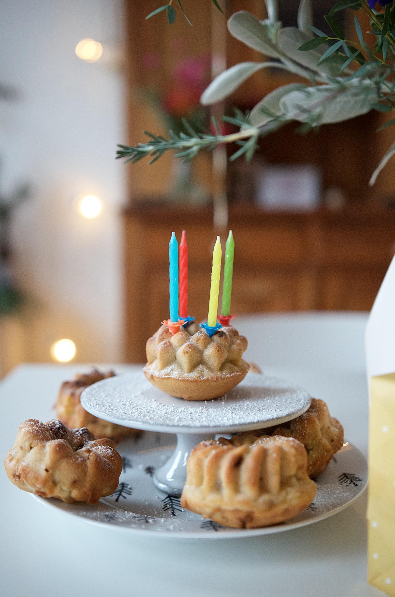 Rezept für Apfel Zimt Muffins mit karamellisierten Walnüssen (1)