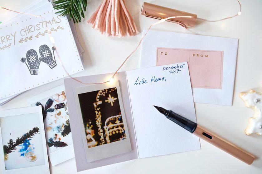 DIY Weihnachtskarten mit Instax Mini Fotodrucker