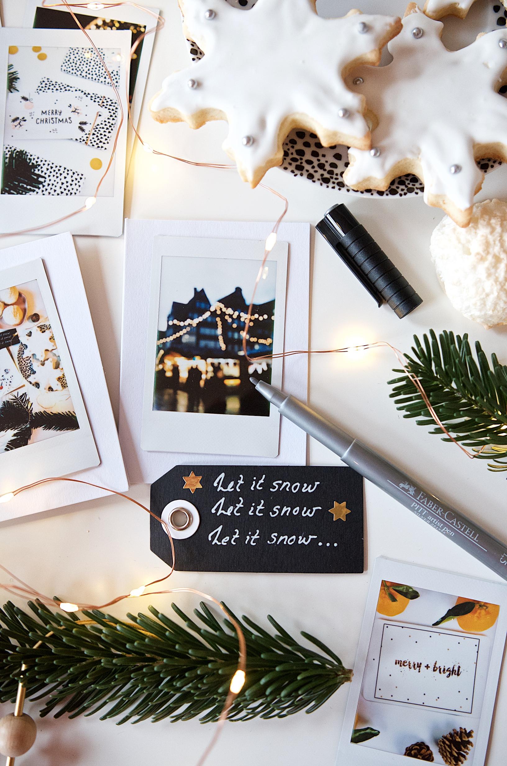 E Weihnachtskarten.Schnell Schön Individuell Diy Weihnachtskarten Mit Instax Foto