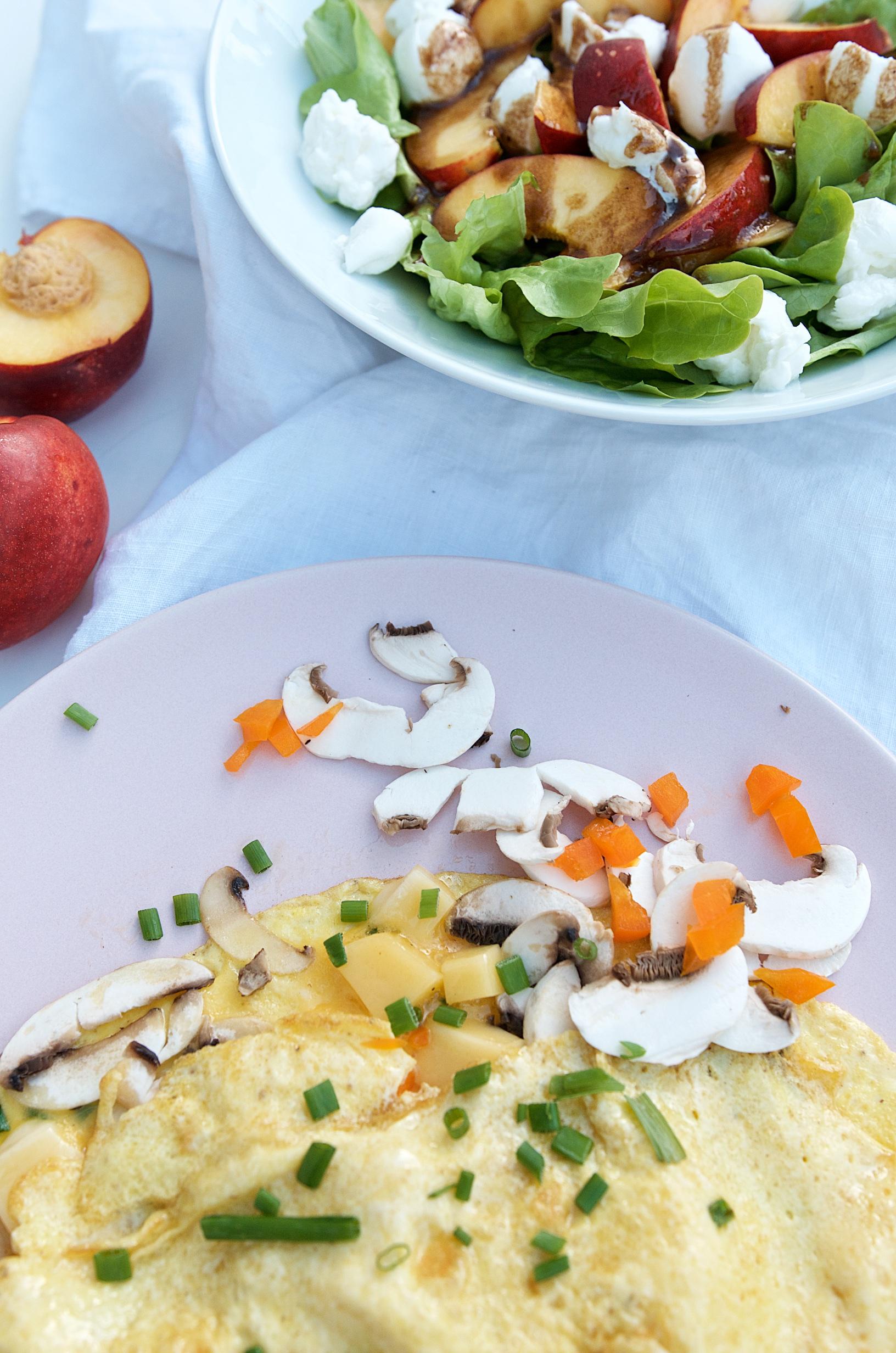 Salat und Omelette |Wochenplan