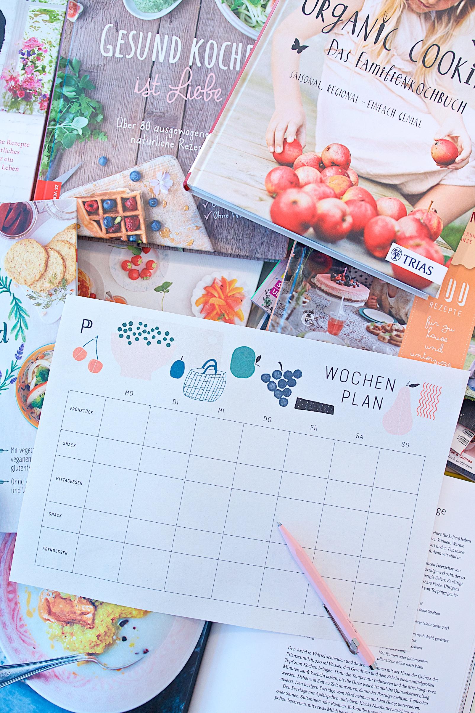 Wochenplan Essensplan Free Printable