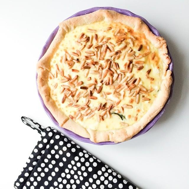 Rezept für Zucchini Feta Quiche mit Quark Mürbeteig