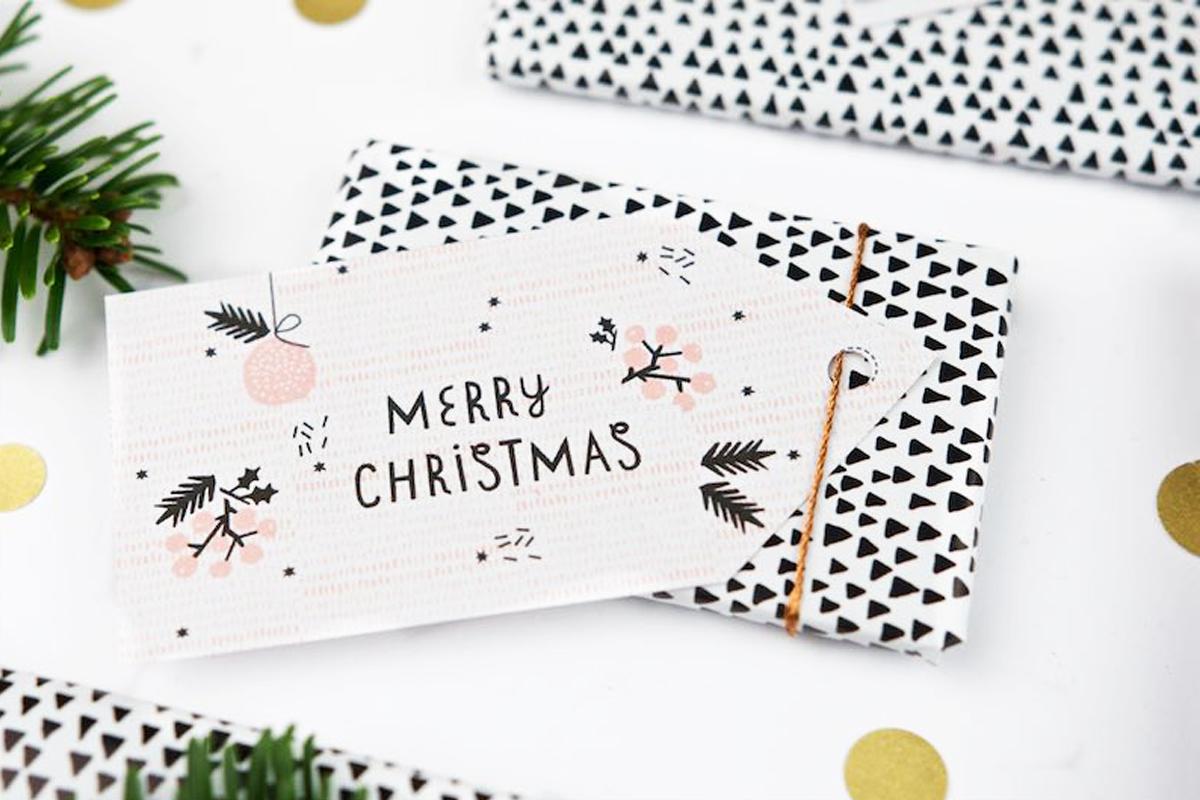 Free Printable für Last Minute Geschenkanhänger zu Weihnachten