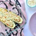 Vegetarisch gefüllte Zucchini mit Rosinen und Feta. Kochen mit Resten | Pinkepank