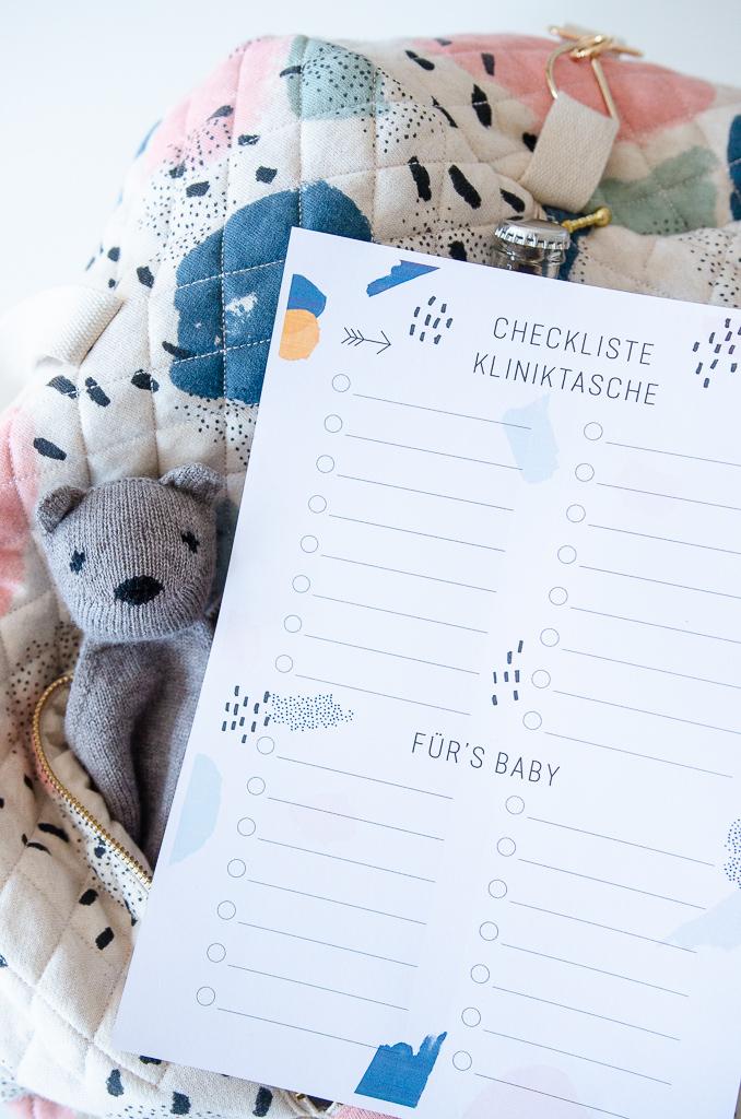 Was gehört in die Kliniktasche Plus Free Printable Checkliste Kliniktasche