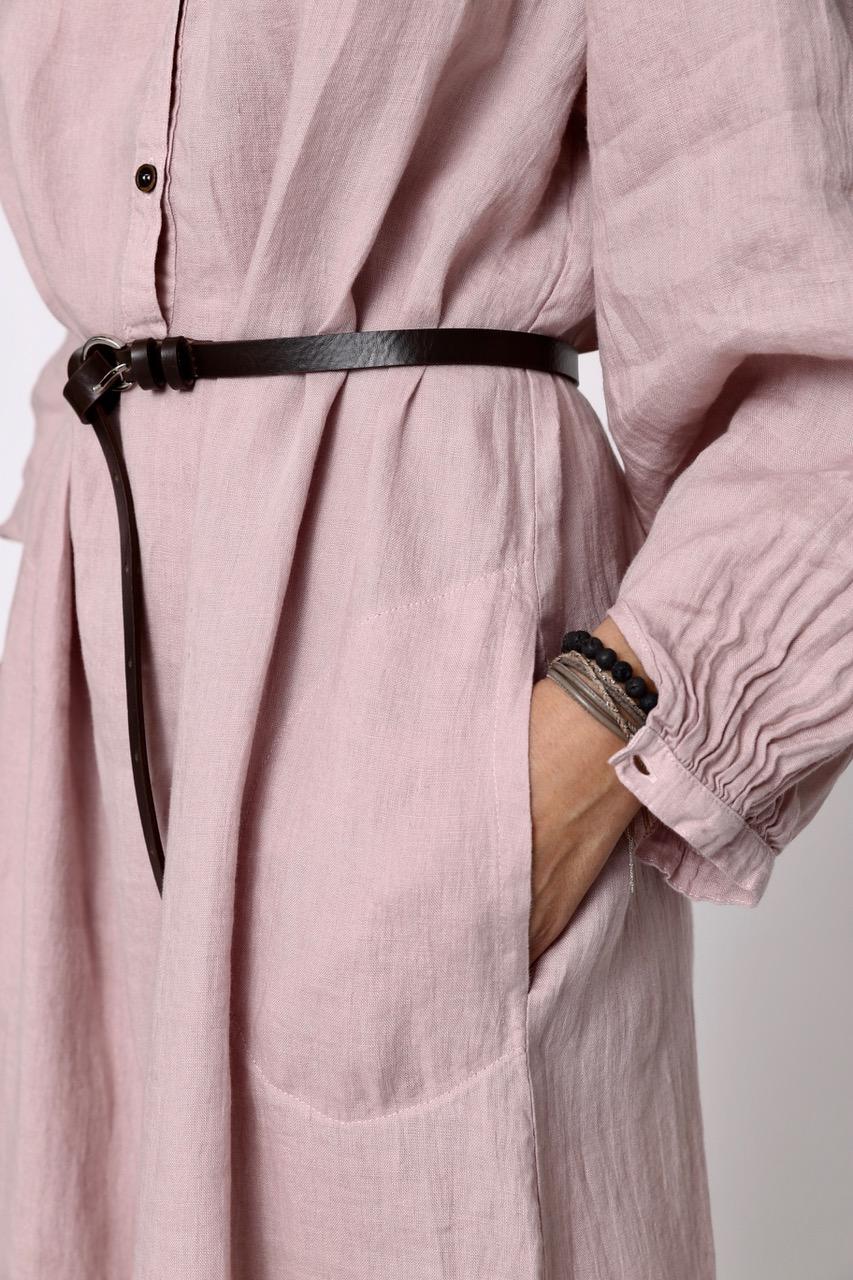 Luftiges Leinenkleid mit Knopfleiste - perfekt für die Schwangerschaft und zum Stillen