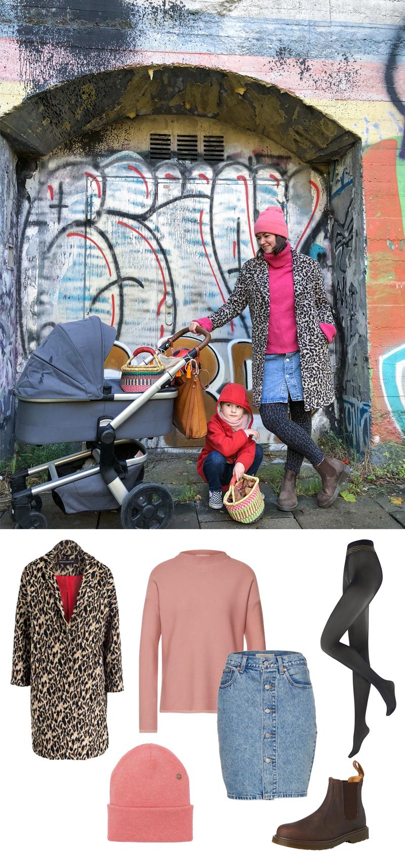 PinkepankStyle - Herbst Outfit mit Kuschelpulli und Leo-Mantel, fair Fashion