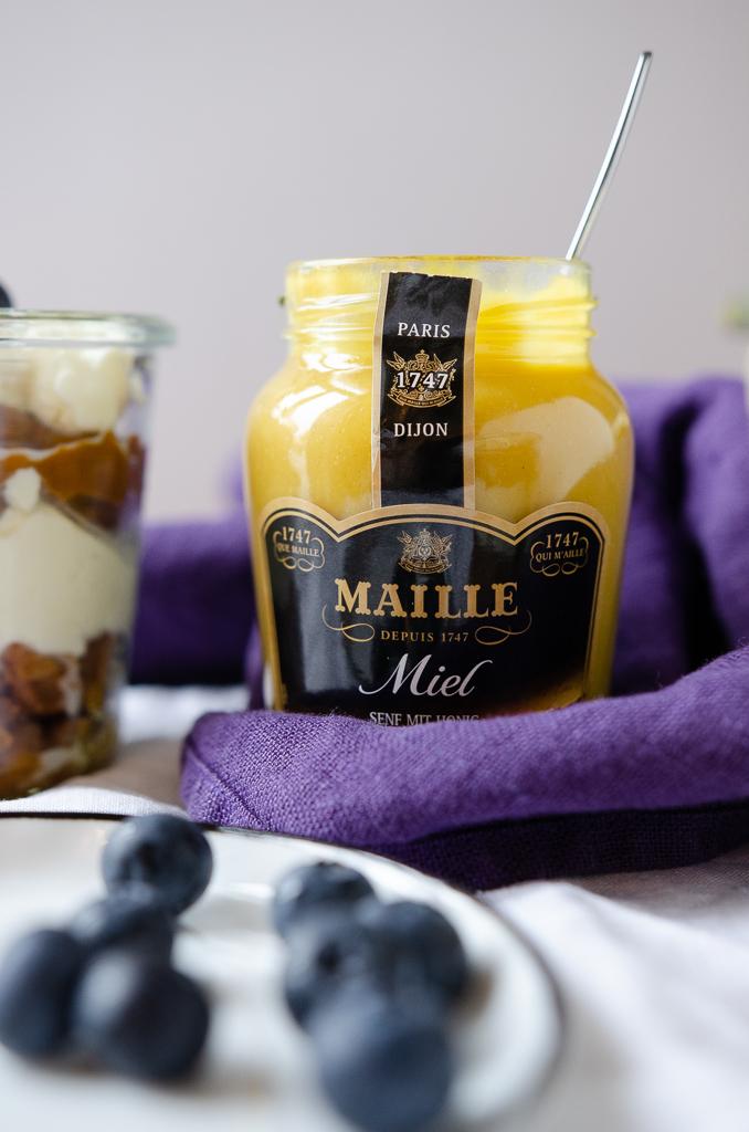 Ein Food-Pairing-Workshop mit Maille. Plus Rezept für No bake Kürbiskuchen im Glas.