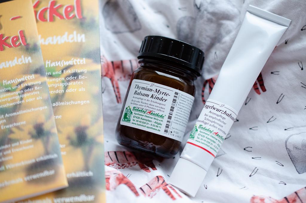 Husten bei Kindern - Bienenwachswickel, Thymian-Myrte-Balsam, Engelwurzbalsam - unsere Helfer zur Erkältungszeit