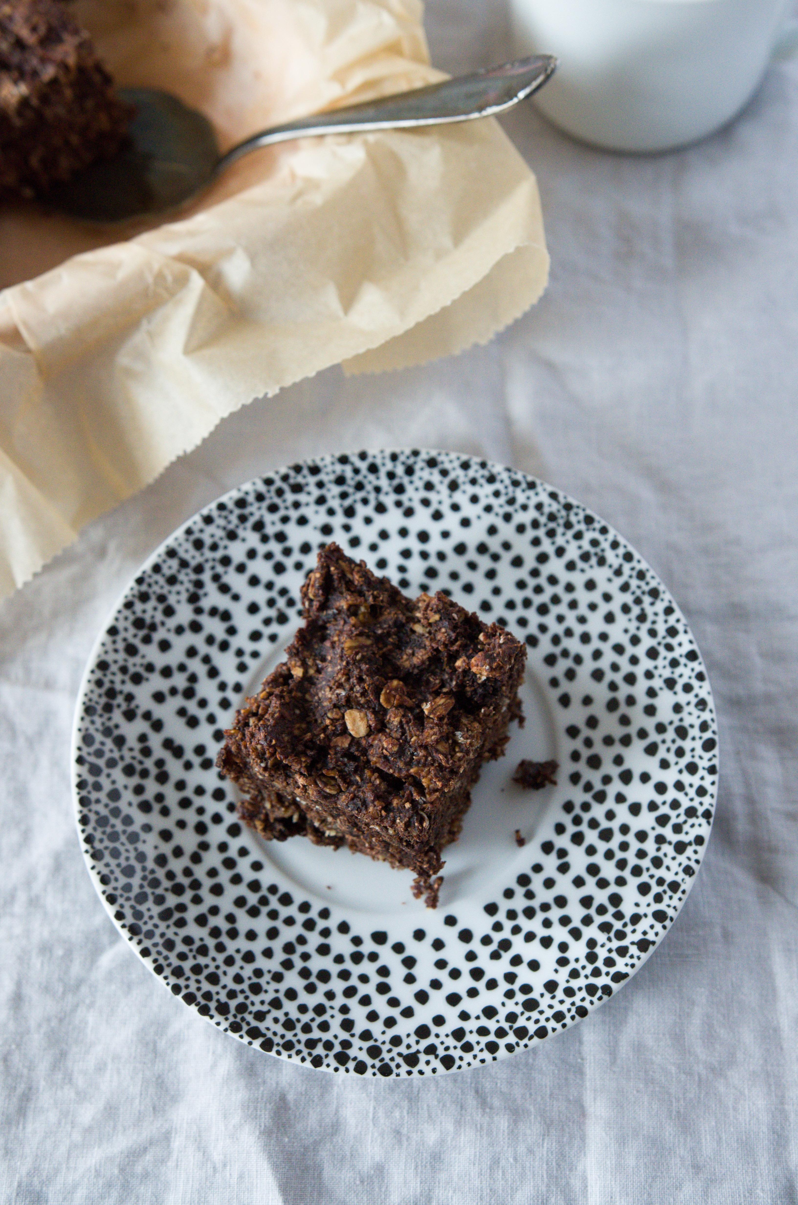 Rezept für schokoladige Müsliriegel (vegan)