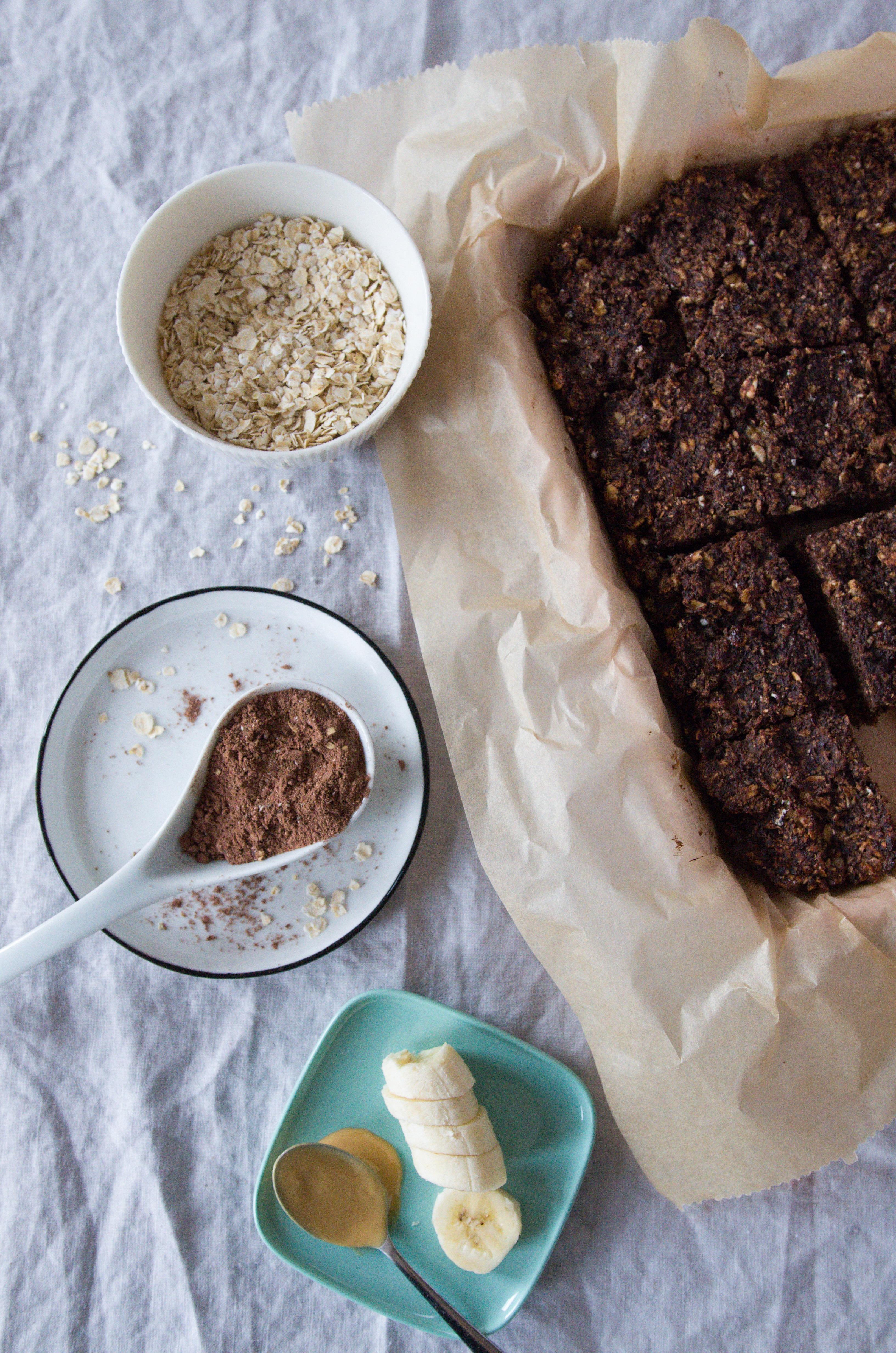 Rezept für schokoladige Müsliriegel Rezept für schokoladige Müsliriegel