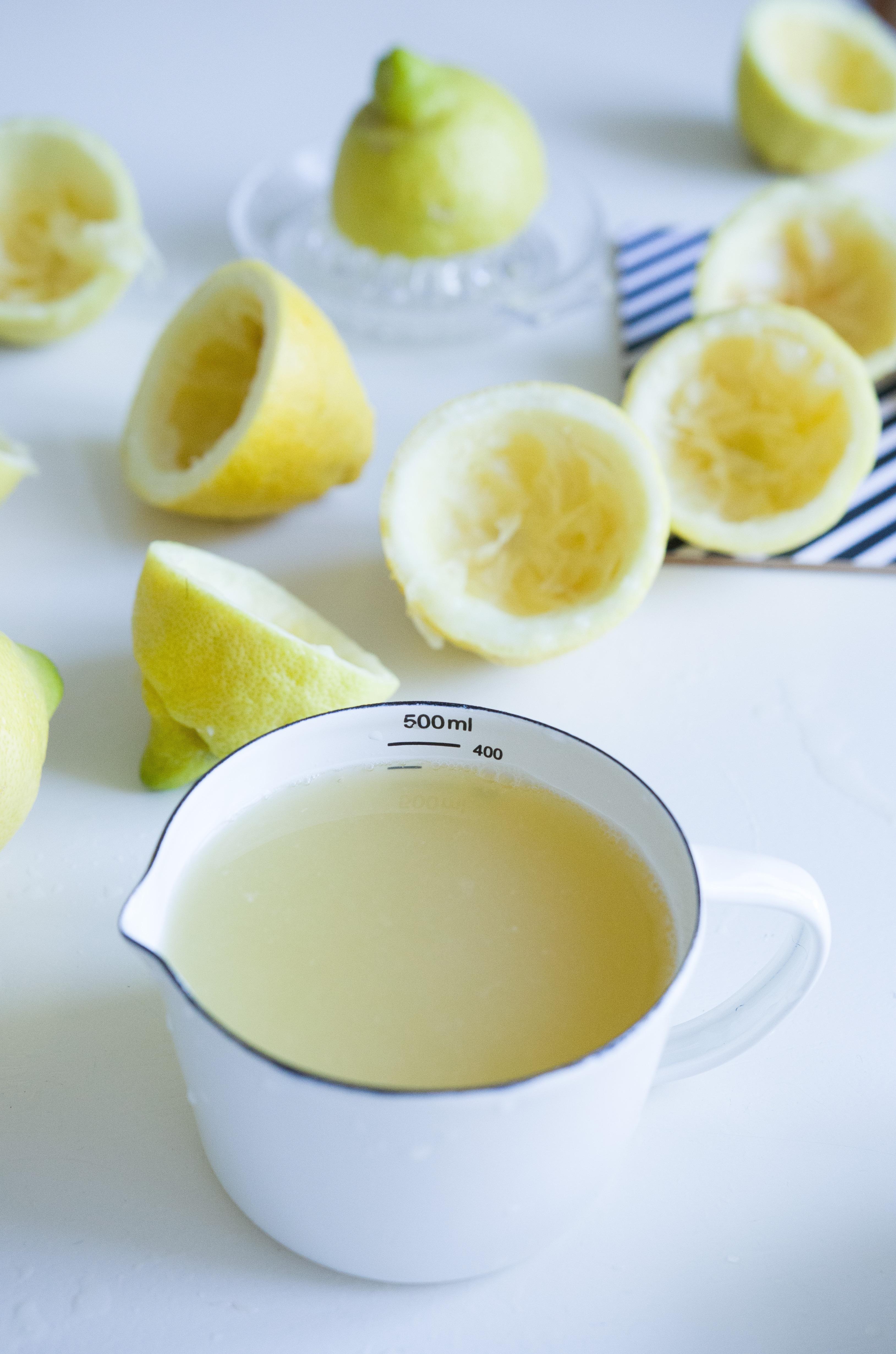 Rezept für selbst gemachte Zitronenlimonade
