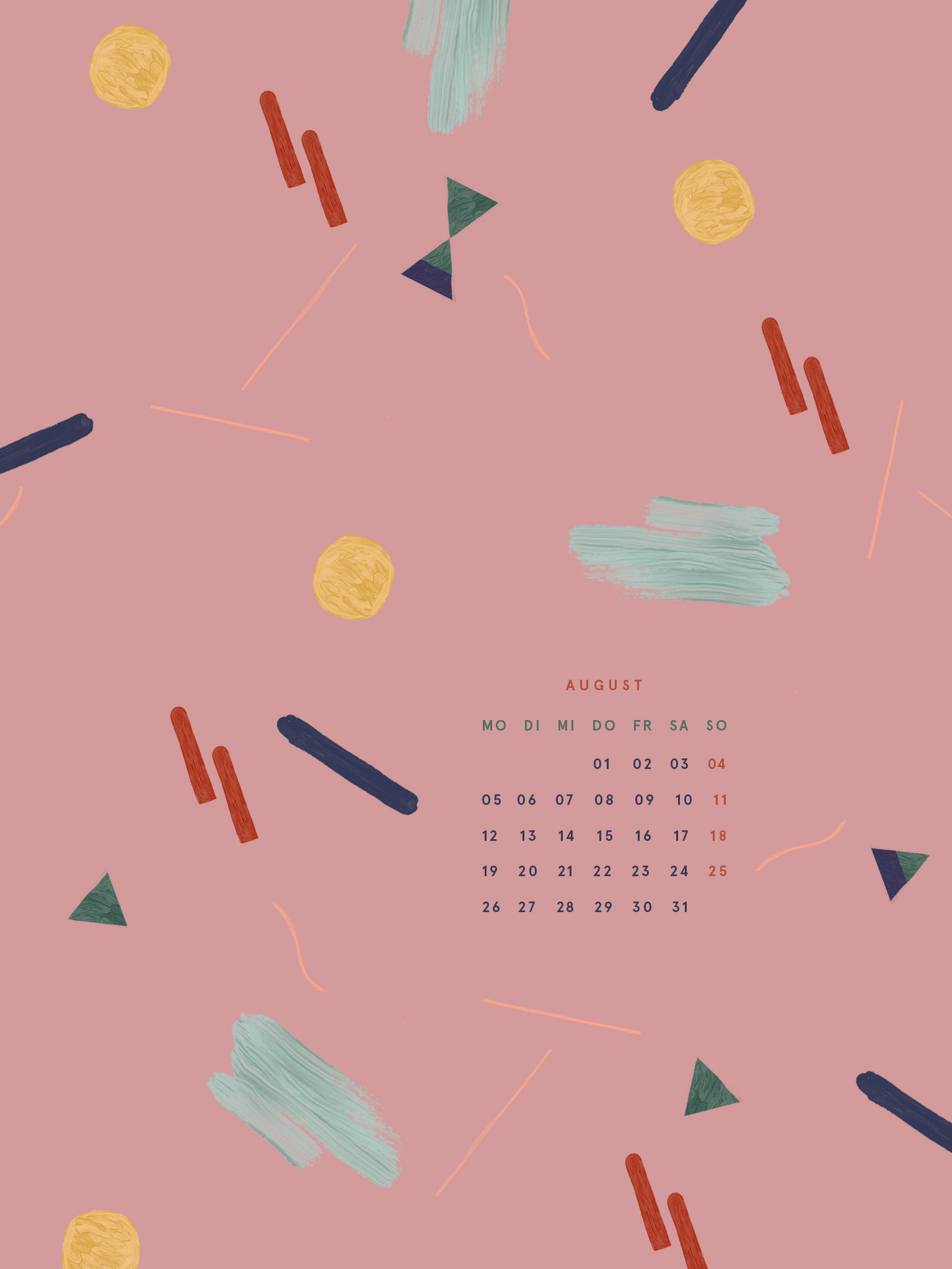 Free Desktop Wallpaper August 2019