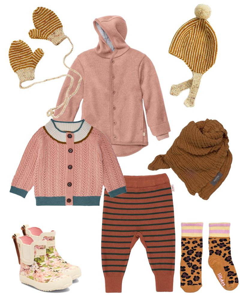 Herbst-Look für (Klein)Kinder mit disana Walk-Overall und Leo-Socken